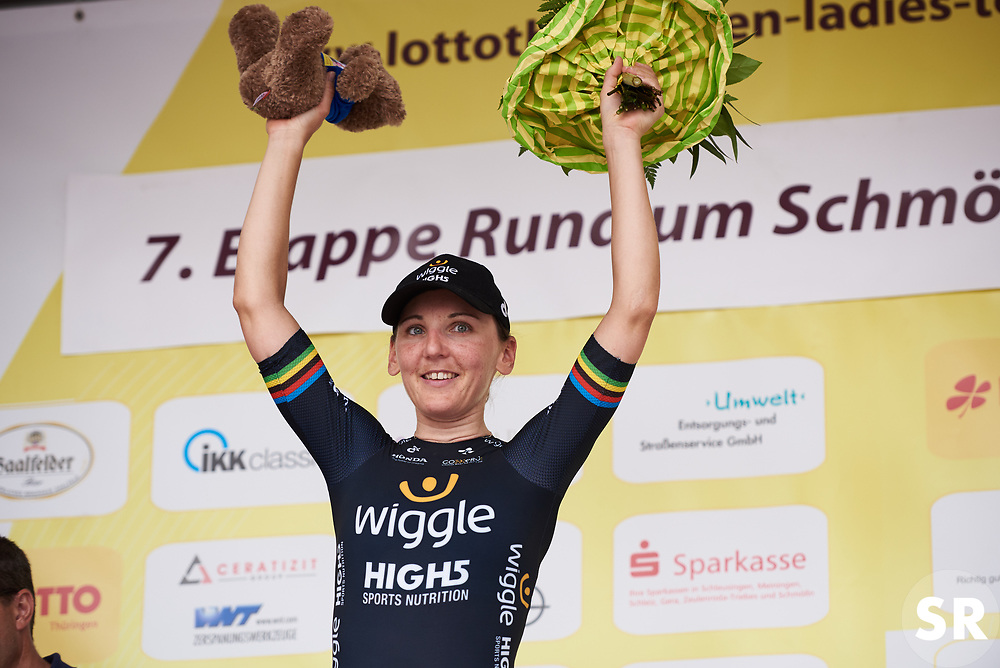 Lisa Brennauer (GER) takes to the stage at Lotto Thuringen Ladies Tour 2018 - Stage 7, an 18.7 km time trial starting and finishing in Schmölln, Germany on June 3, 2018. Photo by Sean Robinson/velofocus.com