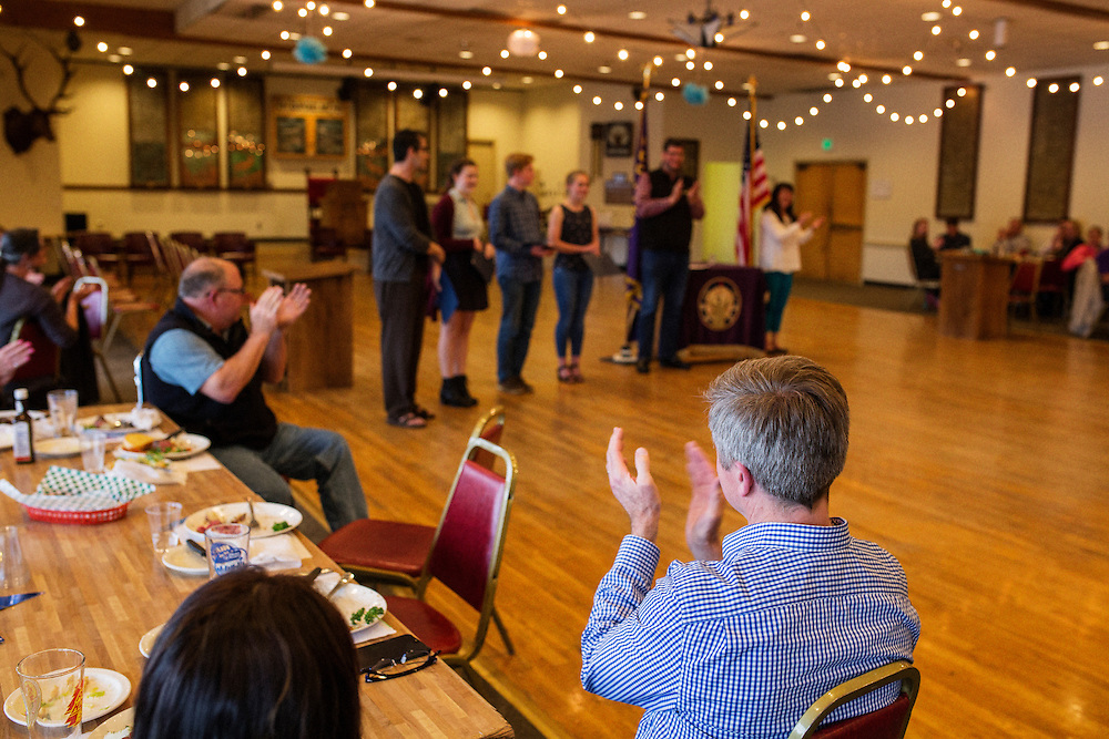 Ballard Elks Club. Ceremony for college grants from the Ballard Elks.<br /> <br /> Matt Lutton / Boreal Collective for Buzzfeed