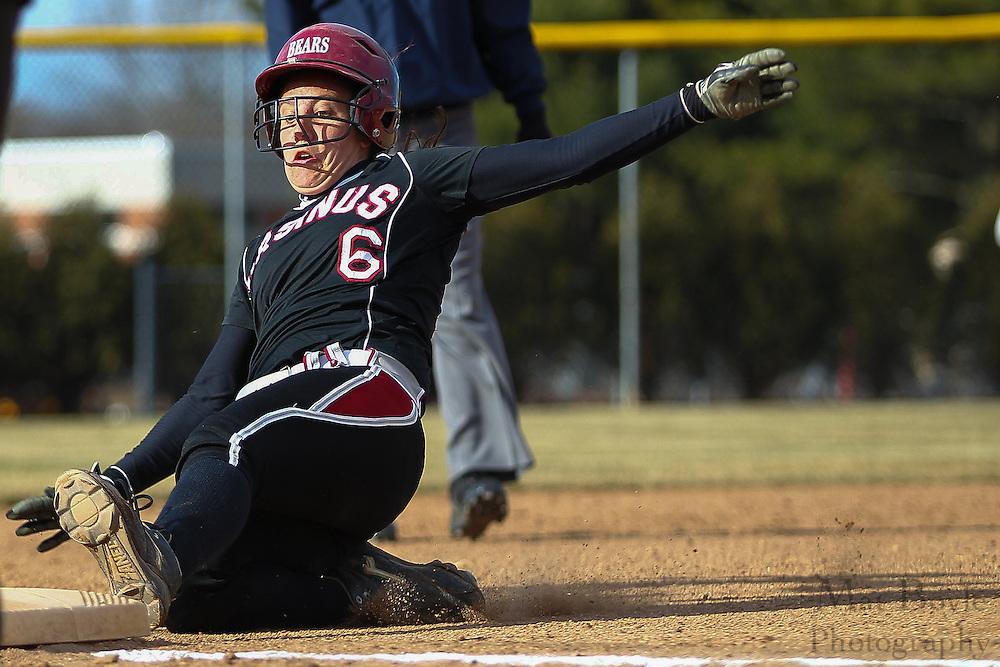 Ursinus College Softball Junior Outfielder Amy Gentile (6) - Ursinus College Softball vs Rowan University at Rowan University's Softball Field in Glassboro, NJ on Wednesday March 27, 2013. (photo / Mat Boyle)
