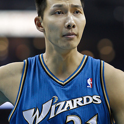 February 1, 2011; New Orleans, LA, USA; Washington Wizards power forward Yi Jianlian (31) against the New Orleans Hornets during the first quarter at the New Orleans Arena.   Mandatory Credit: Derick E. Hingle