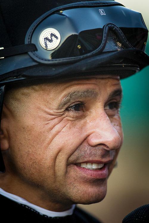 March 07 2015: Jockey, Mike Smith at Santa Anita Park in Arcadia CA. Alex Evers/ESW/CSM`