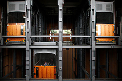 GERMANY HAMBURG 29JUN13 - General view of the elevators operating in the Old Elbe Tunnel (St. Pauli Elbe Tunnel - German: Alter Elbtunnel) which opened in 1911, is a pedestrian and vehicle tunnel in Hamburg, Germany. <br /> <br /> The 426 m (1,398 ft) long tunnel was a technical sensation; 24 m (80 ft) beneath the surface, two tubes with 6 m (20 ft) diameter connect central Hamburg with the docks and shipyards on the south side of the river Elbe. <br /> <br /> <br /> <br /> jre/Photo by Jiri Rezac<br /> <br /> <br /> <br /> © Jiri Rezac 2013
