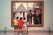 CHICAGO, ART INSTITUTE Caillebotte's 'Paris A Rainy Day'