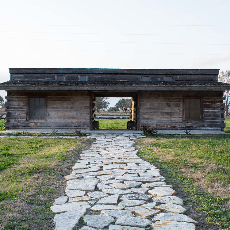 A.B. Kerr property. The walkway is made of sandstone which was manufactured by the Kerr company in Muldoon, Texas.