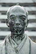 head of a bronze statue Oguri Tadamasa