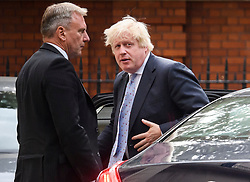 © Licensed to London News Pictures. 18/07/2018. London, UK. Boris Johnson arrives back at the official residence of the Foreign Secretary after delivering his first speech in parliament since resigning from the government. Photo credit: Ben Cawthra/LNP
