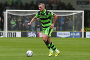 Forest Green Rovers Lee Collins(5) on the ball during the EFL Sky Bet League 2 match between Forest Green Rovers and Exeter City at the New Lawn, Forest Green, United Kingdom on 9 September 2017. Photo by Shane Healey.