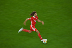 CARDIFF, WALES - Sunday, October 13, 2019: Wales' Ethan Ampadu during the UEFA Euro 2020 Qualifying Group E match between Wales and Croatia at the Cardiff City Stadium. (Pic by Paul Greenwood/Propaganda)