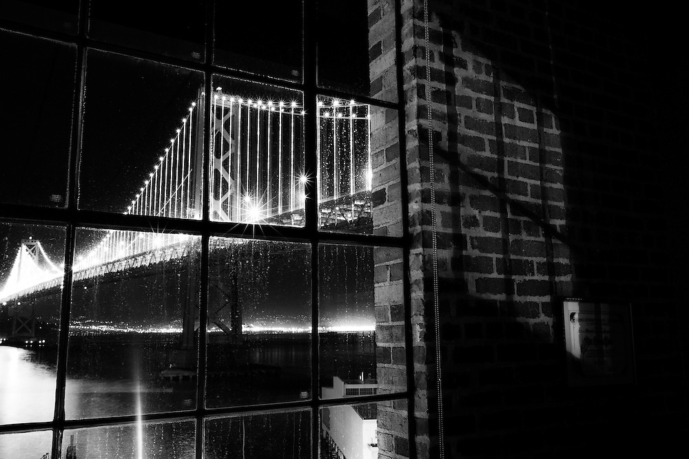 Southeasterly view of San Francisco/Oakland Bay Bridge. Copyright 2013 Reid McNally.