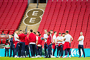 England Team before the FIFA World Cup Qualifier match between England and Slovenia at Wembley Stadium, London, England on 5 October 2017. Photo by Sebastian Frej.
