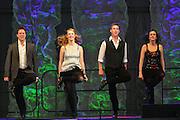 Photo of four Irish Step Dancers at the Dublin Irish Festival in Dublin, Ohio.