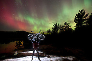 NORTHERN LIGHTS NIGHT BIKING