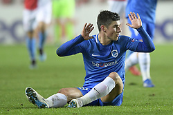 February 14, 2019 - Prague, CZECH REPUBLIC - Genk's Ruslan Malinovski pictured during a soccer game between Czech club SK Slavia Praha and Belgian team KRC Genk, the first leg of the 1/16 finals (round of 32) in the Europa League competition, Thursday 14 February 2019 in Prague, Czech Republic. BELGA PHOTO YORICK JANSENS (Credit Image: © Yorick Jansens/Belga via ZUMA Press)