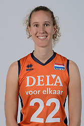 21-05-2014 NED: Selectie Nederlands volleybal team vrouwen, Arnhem<br /> Op Papendal werd het Nederlands team volleybal seizoen 2014-2015 gepresenteerd / Nicole Koolhaas