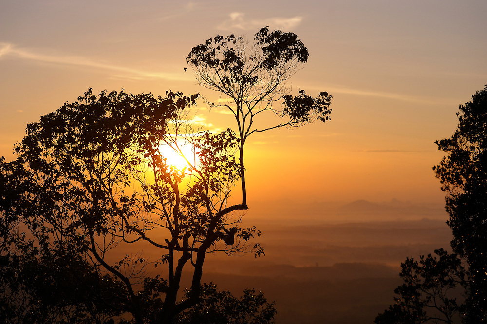 Sunrise, view from Hill at Wat Tham Sua, Krabi, Thailand