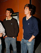 09.JULY.2007. LONDON<br /> <br /> NEW WIMBLEDON MIXED DOUBLES CHAMPION JAMIE MURRAY SHOWS OLDER BROTHER ANDY AND FRIENDS HOW CHAMPIONS PARTY BY TAKING THEM OUT FOR A SLAP UP MEAL AT  ZUMA RESTAURANT IN KNIGHTSBRIDGE. MURRAY THE FIRST BRIT TO WIN A WIMBLEDON CHAMPIONSHIP IN 20 YEARS, AND THE FIRST SCOT TO WIN A WIMBLEDON CHAMPIONSHIP IN OVER A 100 YEARS HAD DRINKS AT THE BAR  WERE YOU COULD SEE FANS CONSTANTLEY  GOING UP TO HIM CONGRATULATING HIM ON HIS WIMBLEDON VICTORY.THEY LEFT AT  11:45 LOOKING VERY HAPPY WITH HIM SELF.<br /> <br /> BYLINE: EDBIMAGEARCHIVE.CO.UK<br /> <br /> *THIS IMAGE IS STRICTLY FOR UK NEWSPAPERS AND MAGAZINES ONLY*<br /> *FOR WORLD WIDE SALES AND WEB USE PLEASE CONTACT EDBIMAGEARCHIVE - 0208 954 5968*