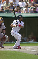 July 22, 2001 - Cleveland, Ohio - Cleveland Indians second baseman Roberto Alomar hits a double in a MLB game against the Detroit Tigers at Jacobs Field in Cleveland Ohio. Alomar was elected to the National Baseball Hall of Fame on Jan. 6, 2011.