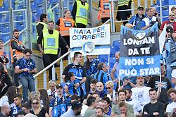May 6, 2018 - Rome, Italy - Atalanta supporters during the Italian Serie A football match between S.S. Lazio and Atalanta at the Olympic Stadium in Rome, on may 06, 2018. (Credit Image: © Silvia Lore/NurPhoto via ZUMA Press)