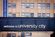 USA, Pennsylvania, Philadelphia. A bridge in University City.
