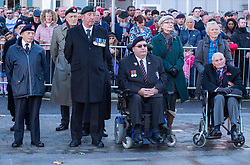 © Licensed to London News Pictures. 11/11/2018. Bristol, UK. Remembrance Day Parade to the Cenotaph in Bristol City Centre on the Armistice Day centenary, 1918-2018, of the end of the First World War. Photo credit: Simon Chapman/LNP