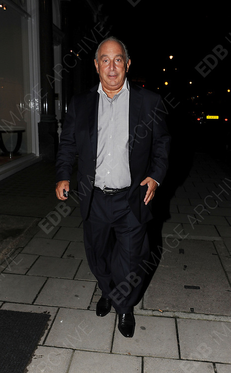 01.MAY.2012. LONDON<br /> <br /> SIR PHILIP GREEN OUT IN MAYFAIR, LONDON<br /> <br /> BYLINE: EDBIMAGEARCHIVE.COM<br /> <br /> *THIS IMAGE IS STRICTLY FOR UK NEWSPAPERS AND MAGAZINES ONLY*<br /> *FOR WORLD WIDE SALES AND WEB USE PLEASE CONTACT EDBIMAGEARCHIVE - 0208 954 5968*