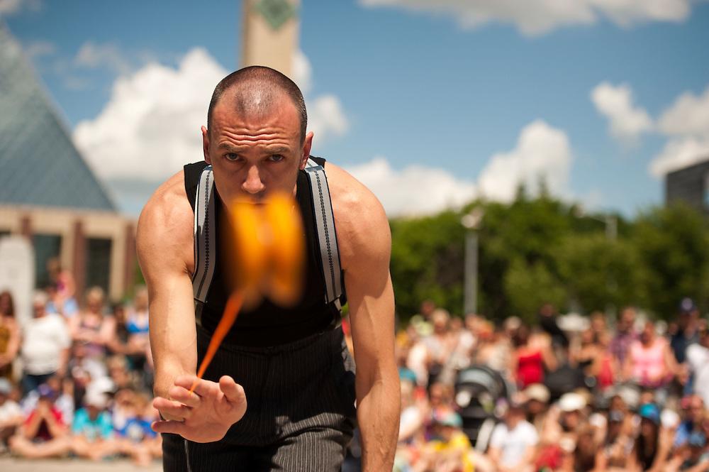 Edmonton International Street Performers Festival. Photo by Marc Chalifoux for EPIC Photography Inc