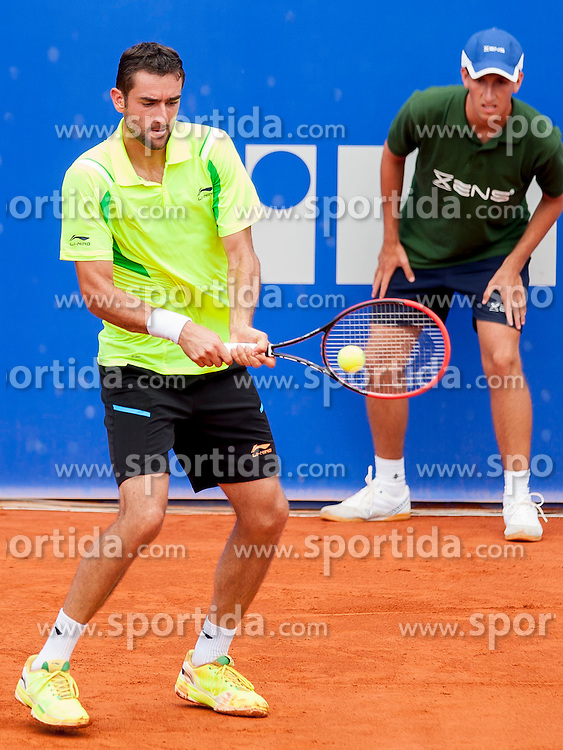 Marin Cilic of Croatia during a tennis match against the Tommy Robredo of Espana in semi-final of singles at 25th Vegeta Croatia Open Umag, on July 27, 2014, in Stella Maris, Umag, Croatia. Photo by Urban Urbanc / Sportida