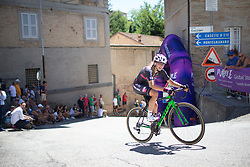 Polona Batagelj (SLO) of BTC City Ljubljsana Cycling Team rides near the top of the final climb of Stage 5 of the Giro Rosa - a 12.7 km individual time trial, starting and finishing in Sant'Elpido A Mare on July 4, 2017, in Fermo, Italy. (Photo by Balint Hamvas/Velofocus.com)