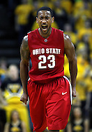 January 27, 2010: Ohio State guard/forward David Lighty (23) is pumped up during the second half of their game at Carver-Hawkeye Arena in Iowa City, Iowa on January 27, 2010. Ohio State defeated Iowa 65-57.
