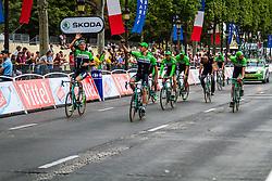 Belkin Pro Cycling, Rider parade on the Champs-Élysées, Tour de France, Stage 21: Évry > Paris Champs-Élysées, UCI WorldTour, 2.UWT, Paris Champs-Élysées, France, 27th July 2014, Photo by Thomas van Bracht