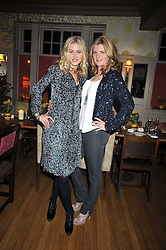 Left to right, DONNA AIR and SUSANNAH CONSTANTINE at a dinner in aid of the Soil Association held at Bumpkin, 102 Old Brompton Road, London SW7 on 11th March 2009.