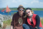 Sean Hatton from Galway and Jen Hefnan from Furbo at the Crinniu na mBad (Gathering of the boats) Festival  in Kinvara Co. Galway at the weekend featuring Galway hookers racing across the bay. Photo:Andrew Downes.