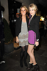 Left to right, FAWN JAMES and INDIA JAMES at the Tatler Little Black Book Party held at Tramp, 40 Jermyn Street, London on 3rd November 2010.