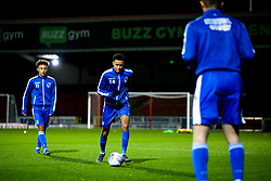 Joe Budd of Bristol Rovers Under 18s warms up - Mandatory by-line: Robbie Stephenson/JMP - 29/10/2019 - FOOTBALL - County Ground - Swindon, England - Swindon Town v Bristol Rovers - FA Youth Cup Round One