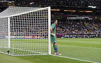 FUSSBALL  EUROPAMEISTERSCHAFT 2012   FINALE Spanien - Italien            01.07.2012 Torwart Gianluigi Buffon (Italien) ist enttaeuscht