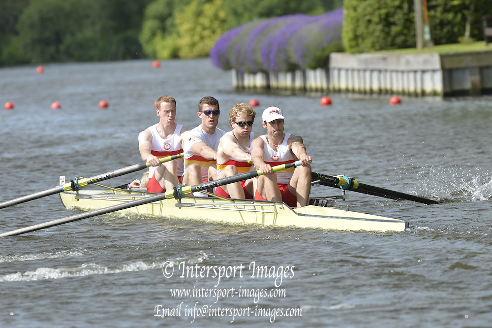 Henley, GREAT BRITAIN.  Brittania Challenge Cup.  Tideway Scullers' School. and Taurus BC, at the start of their Saturday heat.  2012 Henley Royal Regatta.  ..Saturday  11:00:39  30/06/2012. [Mandatory Credit, Peter Spurrier/Intersport-images]...Rowing Courses, Henley Reach, Henley, ENGLAND . HRR.