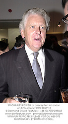 SIR CHARLES POWELL at a reception in London on 17th January 2002.	OWP 15