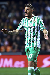 February 28, 2019 - Valencia, Spain - Joaquin Sanchez  of Real Betis Balompie During Spanish King La Copa match between  Valencia cf vs Real Betis Balompie Second leg  at Mestalla Stadium on February 28, 2019. (Photo by Jose Miguel Fernandez/NurPhoto) (Credit Image: © Jose Miguel Fernandez/NurPhoto via ZUMA Press)
