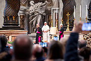 AM01; POPE FRANCIS; BLESSING; THE FAITHFULS; BASILICA; SAINT PETER; MARCH 07; 2018; GAM0718