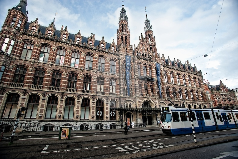 Magna Plaza shopping center in Amsterdam.