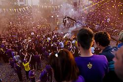 Fans celebrate after NK Maribor became Slovenian National Champion 2017 after football  match between NK Maribor and NK Krskor in Round #36 of Prva liga Telekom Slovenije 2016/17, on May 27th, 2017 in Ljudski Vrt, Maribor, Slovenia. Photo by Grega Valancic / Sportida