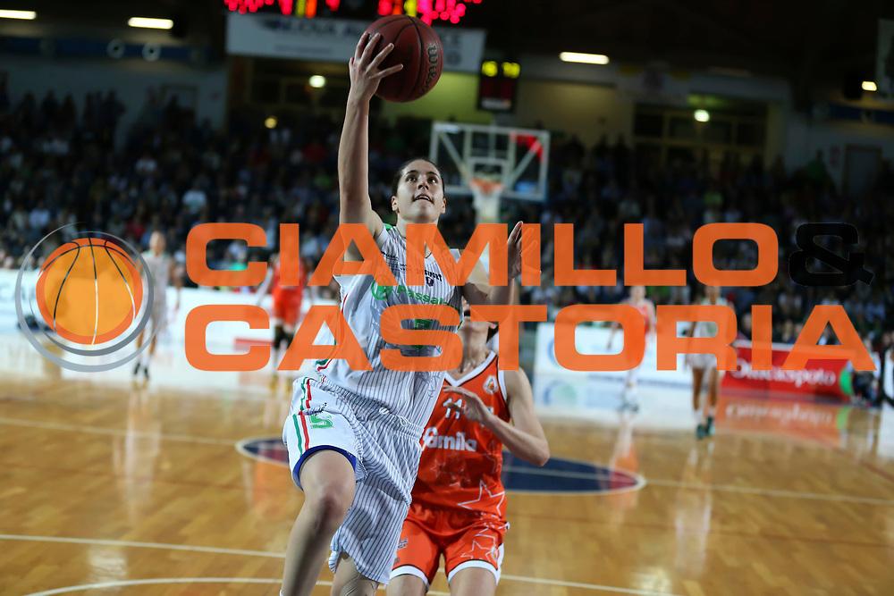 DESCRIZIONE : Ragusa Lega Basket Femminile A1 2014-15 Finale scudetto gara 4 Passalacqua Ragusa Famila Wuber Schio<br /> GIOCATORE : Gaia Gorini<br /> SQUADRA : Passalacqua Ragusa<br /> EVENTO : Lega Basket Femminile Finale scudetto gara 4<br /> GARA : Passalacqua Ragusa Famila Wuber Schio<br /> DATA : 01/05/2015<br /> CATEGORIA : <br /> SPORT : Pallacanestro <br /> AUTORE : Agenzia Ciamillo-Castoria/ElioCastoria<br /> Galleria : Lega Basket Femminile 2014-2015 <br /> Fotonotizia : Ragusa Lega Basket Femminile A1 2014-15 Finale scudetto gara 4 Passalacqua Ragusa Famila Wuber Schio<br /> Predefinita :