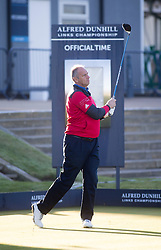 Sir Steve Redgrave. Alfred Dunhill Links Championship this morning at St Andrews.