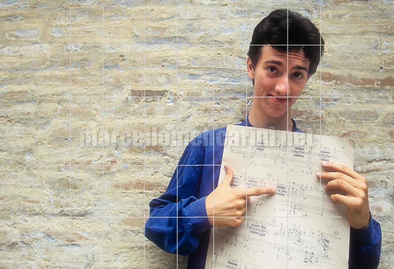 Pesaro, 1997. Pianist Daniele Pollini / Pesaro, 1997. Il pianista Daniele Pollini - © Marcello Mencarini