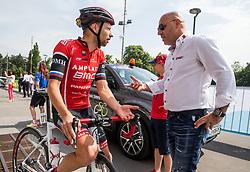 Matej Mugerli (SLO) of Amplatz - BMC and Milan Erzen during Stage 2 of 24th Tour of Slovenia 2017 / Tour de Slovenie from Ljubljana to Ljubljana (169,9 km) cycling race on June 16, 2017 in Slovenia. Photo by Vid Ponikvar / Sportida