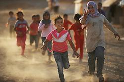 Syrian refugees at the Zaatari refugee camp in Jordan. September 3, 2012. Photo by Nick Cornish/i-Images.