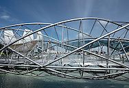 The Helix Bridge in Singapore designed by Cox Architecture