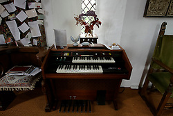 UK ENGLAND THAME 27AUG14 - An organ at the chapel, at the home of deceased Bee Gees singer Robin Gibb in Thame, Oxfordshire.<br /> <br /> jre/Photo by Jiri Rezac<br /> <br /> © Jiri Rezac 2014