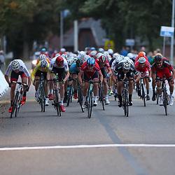 29-09-2016: Wielrennen: Olympia Tour: Gendringen<br /> GENDERINGEN (NED) wielrennen  <br /> De Noor Kristoffer Halvorsen heeft de derde (B) etappe van Olympia's Tour gewonnen. Jan Willem van Schip was op de tiende plaats de beste Nederlander in de daguitslag.De sprint leverde een tweede plek op voor Christopher Latham en een derde plaats voor Jeremey Lecrocq. In een rit waarin heel hard gereden werd, kregen de aanvallers weinig kans.