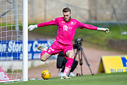 Zander Clark (#1) of St Johnstone FC clears the ball during the Ladbrokes Scottish Premiership match between St Johnstone and Motherwell at McDiarmid Stadium, Perth, Scotland on 11 May 2019.